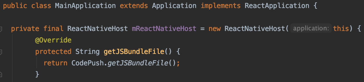 Resolve by override getJSBundleFile method of ReactNativeHost