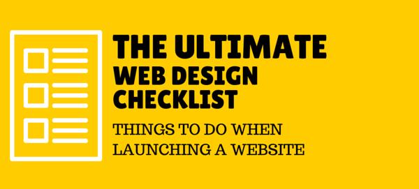 Web design and development checklist