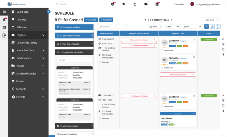 Mobile Team Final Results Schedule